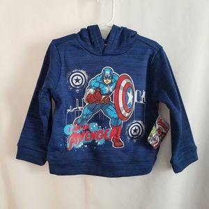 NWT Boy Avengers Captain America Hoodie Size 3T